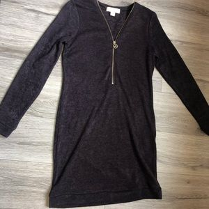 Michael kors plum sweater dress
